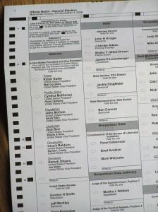 Oregon voter ballot