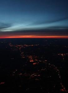 Sunset over east coast USA, 11/04/04