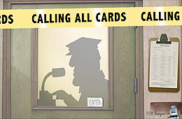 The talking cop on Calling All Cards