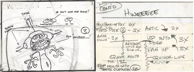 From a Ren and Stimpy storyboard, courtesey of animationarchive.org