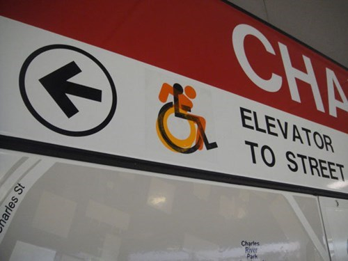 guerrilla art handicap sticker