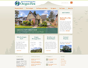 Oregon First real Estate Website home page