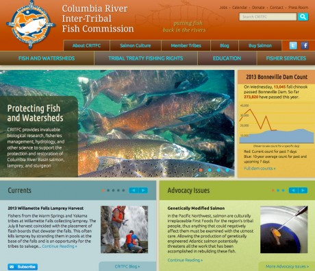 Columbia River Inter-Tribal Fish Commission home page