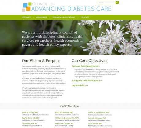 Council for Advancing Diabetes Care home page