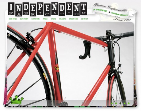 Indyfab Bikes home page