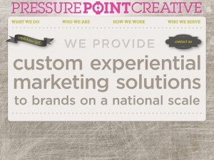 Pressure Point Creative home page