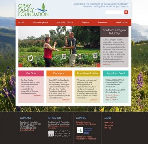Gray Family Foundation website design and build
