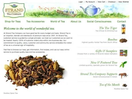 Strand Tea home page