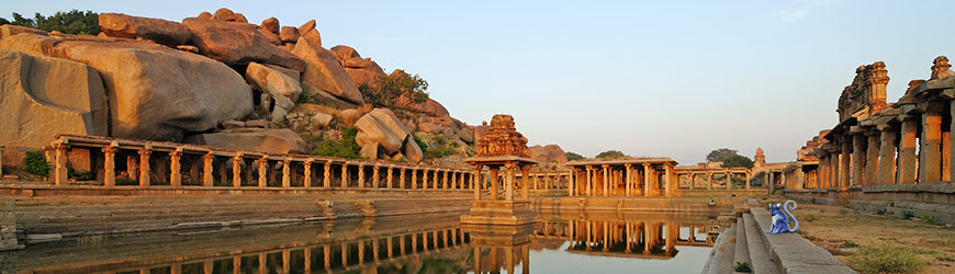 Hampi temple ruins, India