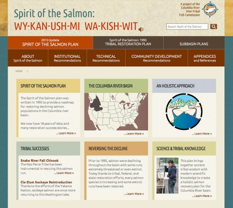 CRITFC Spirit of the Salmon Plan website