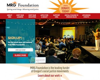 MRG Foundation home page